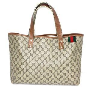 Authentic Gucci brown monogram large tote bag